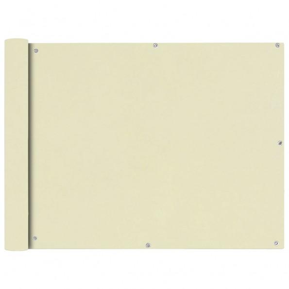 Balkonafskærmning Oxford-stof 90x400 cm cremefarvet