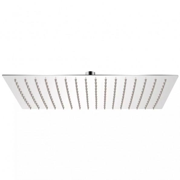Brusehoved rustfrit stål 30x40 cm rektangulær