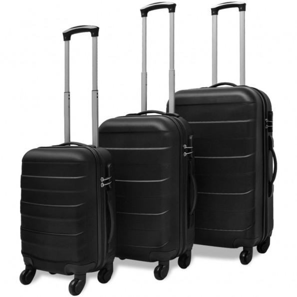 Kuffertsæt i 3 dele hardcase sort