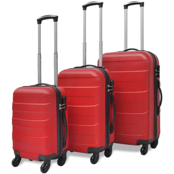 Kuffertsæt i 3 dele Hardcase Rød