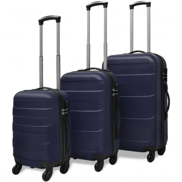 Kuffertsæt i 3 dele Hardcase Blå
