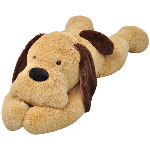 Hund plysdyr brun 80 cm