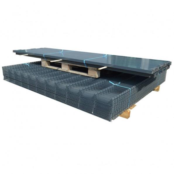2D Havehegnspaneler & Pæle 2008x1830 mm 12 m Grå