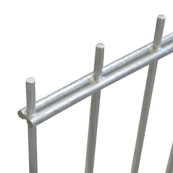 2D Havehegnspanel & Pæle 2008x2030 mm 2 m Sølv