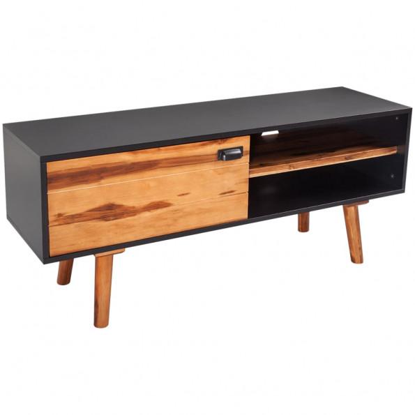 TV-bord i massivt akacietræ 120 x 35 x 50 cm