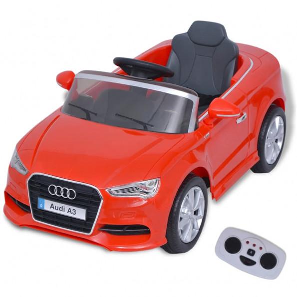 Elektrisk ride-on bil med fjernbetjening Audi A3 rød