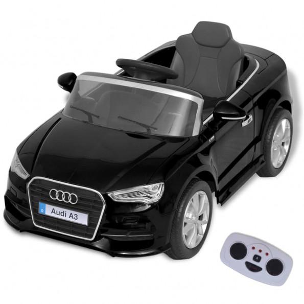 Elektrisk ride-on bil med fjernbetjening Audi A3 sort