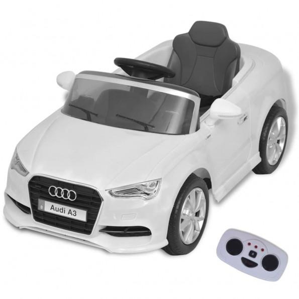 Elektrisk ride-on bil med fjernbetjening Audi A3 hvid
