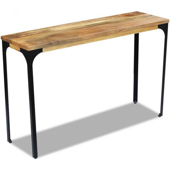Aflastningsbord i mangotræ 120x35x76 cm