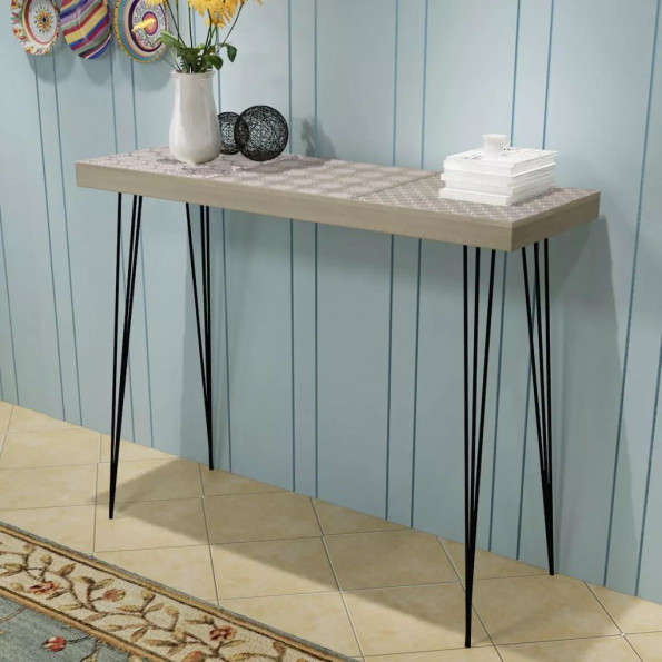 Aflastningsbord 90x30x71,5 cm grå