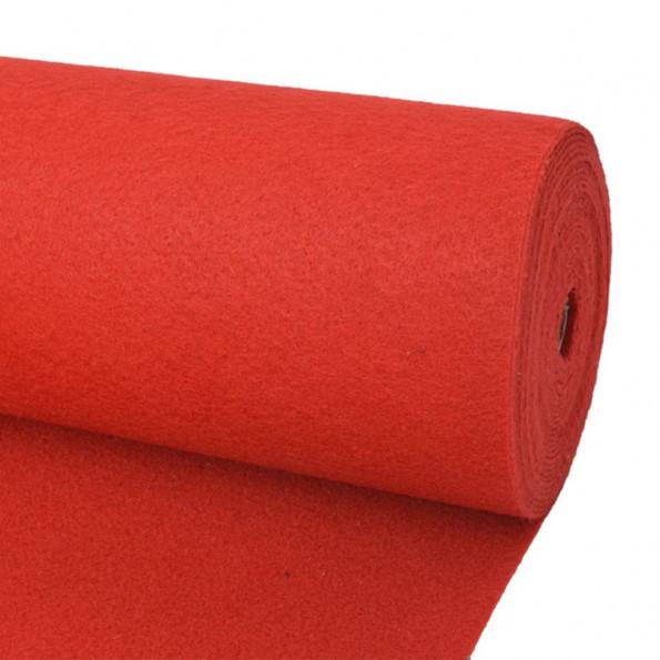 Messetæppe 1x24 m rød