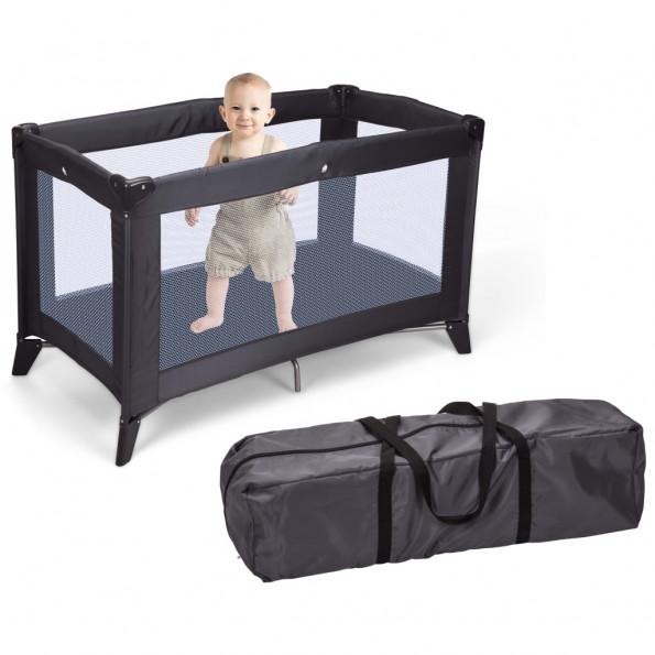 Home&Styling foldbar babyseng med madras mørkegrå
