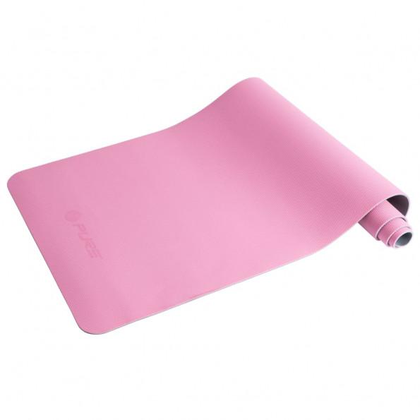 Pure2Improve yogamåtte 173 x 58 x 0,6 cm pink og grå
