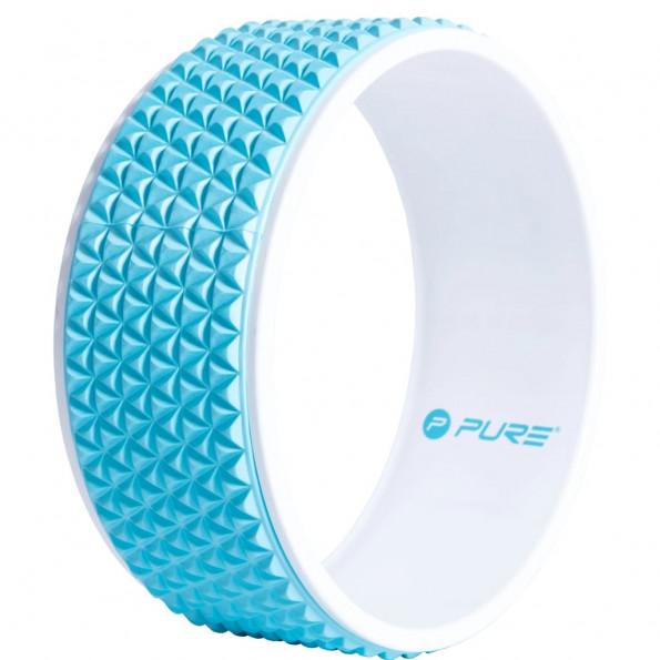 Pure2Improve yogahjul 34 cm blå og hvid