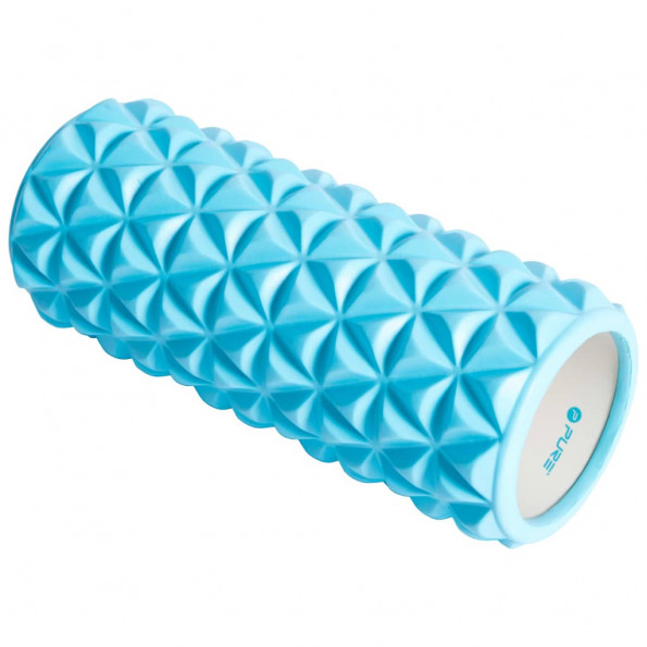 Pure2Improve yogarulle 33 x 14 cm blå og hvid