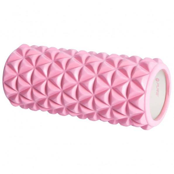 Pure2Improve yogarulle 33 x 14 cm pink og hvid