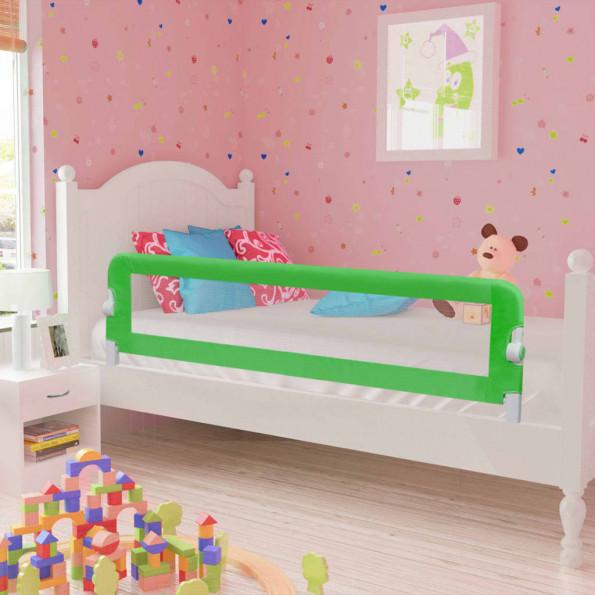 Sengehest til børn 2 stk. 150 x 42 cm grøn