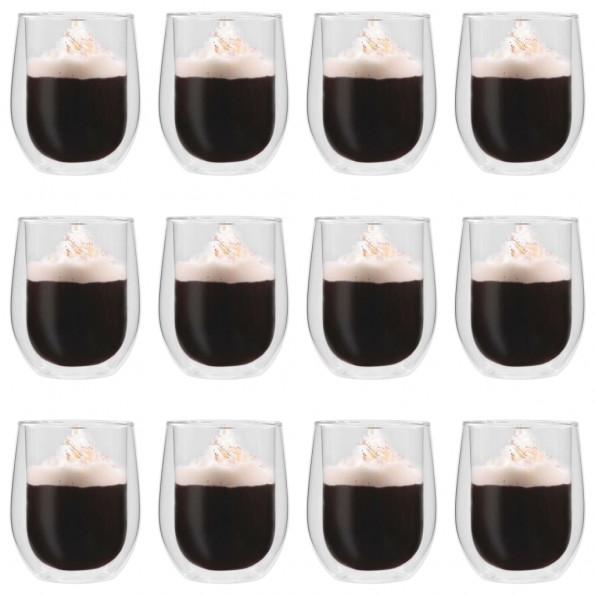 Dobbeltvægget termoglas til espresso 12 stk. 320 ml