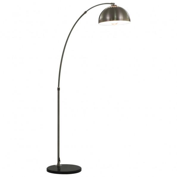 Buet lampe 60 W E27 170 cm sølvfarvet