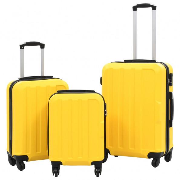 Kuffertsæt i 3 dele hardcase ABS gul