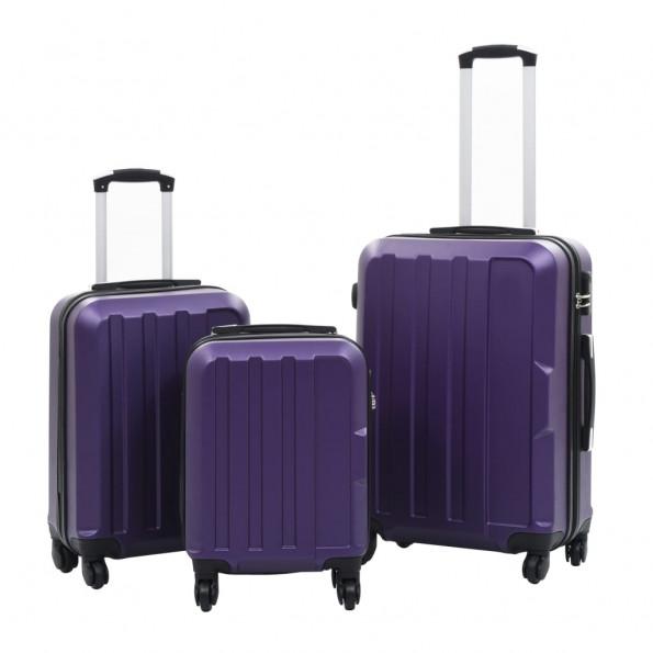 Kuffertsæt i 3 dele hardcase ABS lilla