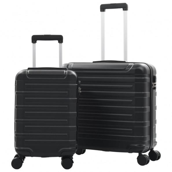 Kuffertsæt i 2 dele hardcase ABS sort