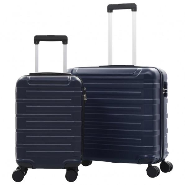 Kuffertsæt i 2 dele hardcase ABS marineblå