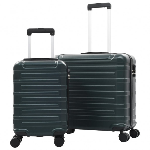 Kuffertsæt 2 dele hardcase ABS grøn