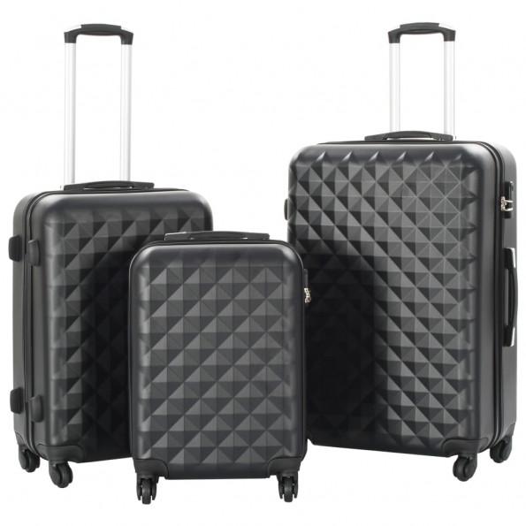 Kuffertsæt i 3 dele hardcase sort ABS