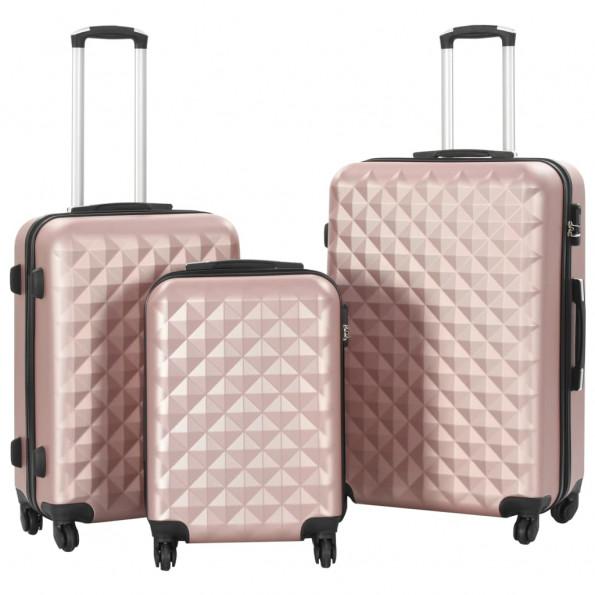 Kuffertsæt i 3 dele hardcase rosenguld ABS