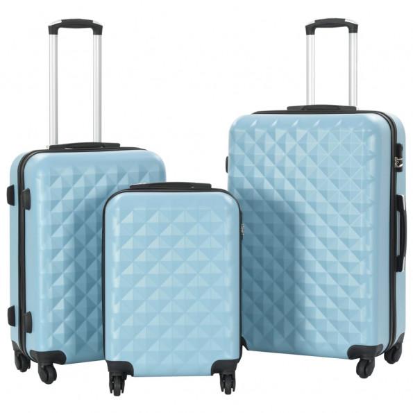 Kuffertsæt i 3 dele hardcase ABS blå