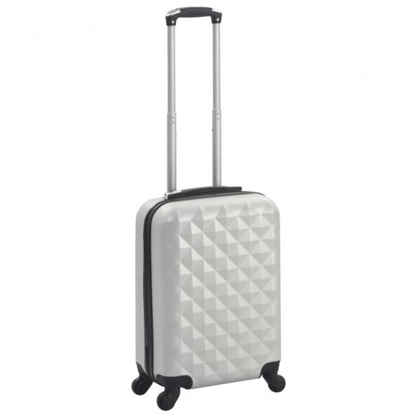 Hardcase-kuffert ABS sølvfarvet