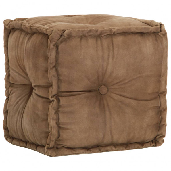 Puf brun 40 x 40 x 40 cm bomuldslærred