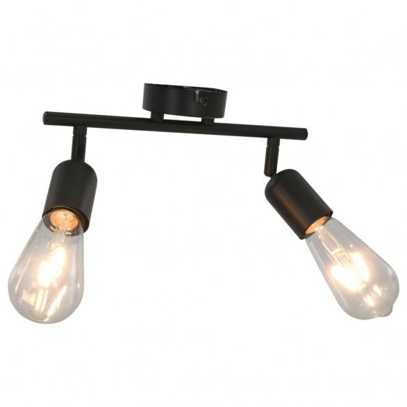 2-vejs spotlampe med glødepærer 2 W E27 sort