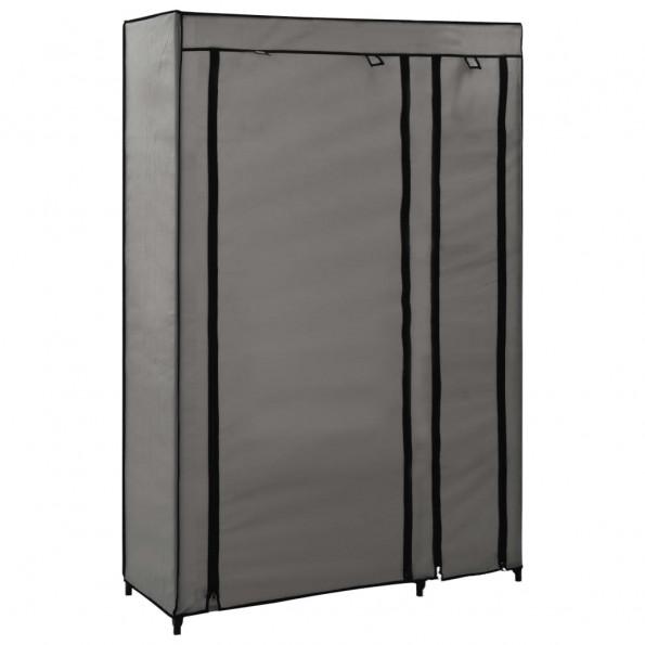 Foldbart klædeskab 110 x 45 x 175 cm stof grå
