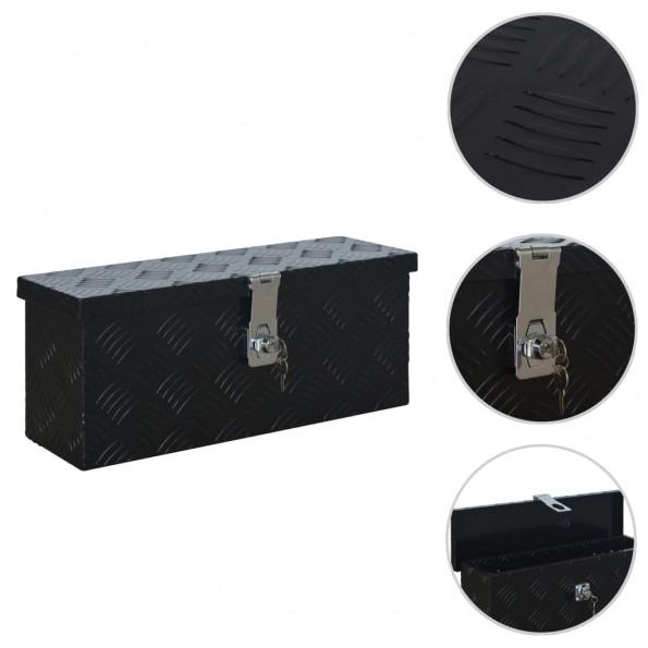Aluminiumskasse 485 x 140 x 200 mm sort