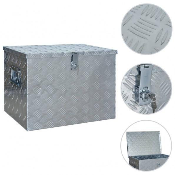 Aluminiumskasse 610 x 430 x 455 mm sølvfarvet