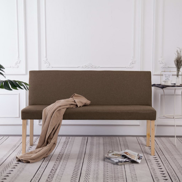 Bænk 139,5 cm polyester brun
