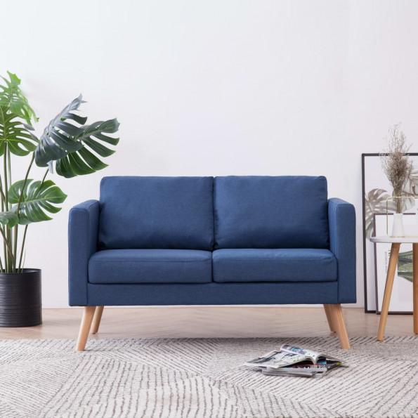 2-personers sofa i stof blå
