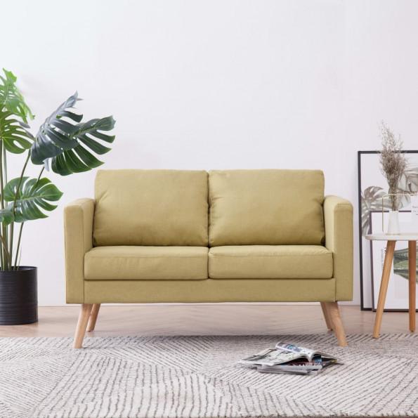2-personers sofa i stof grøn
