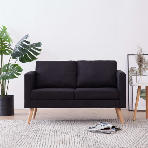 2-personers sofa i stof sort