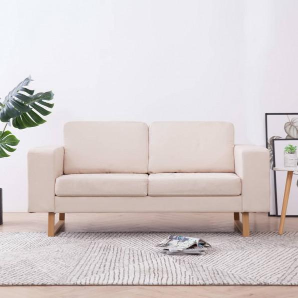 2-personers sofa i stof cremefarvet