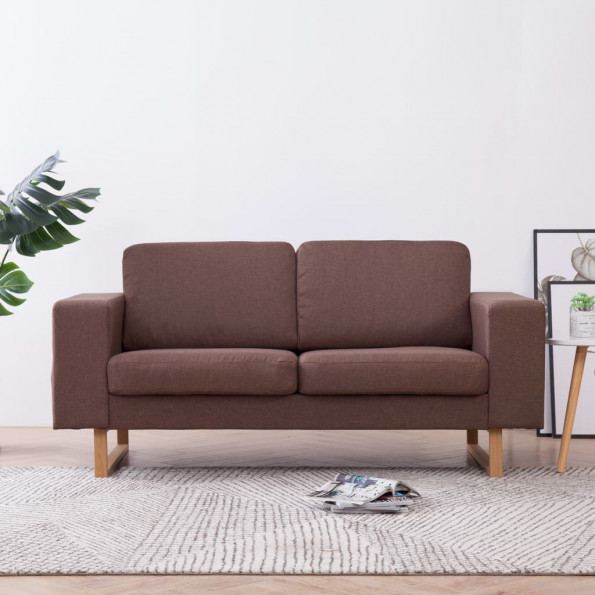 2-personers sofa i stof brun