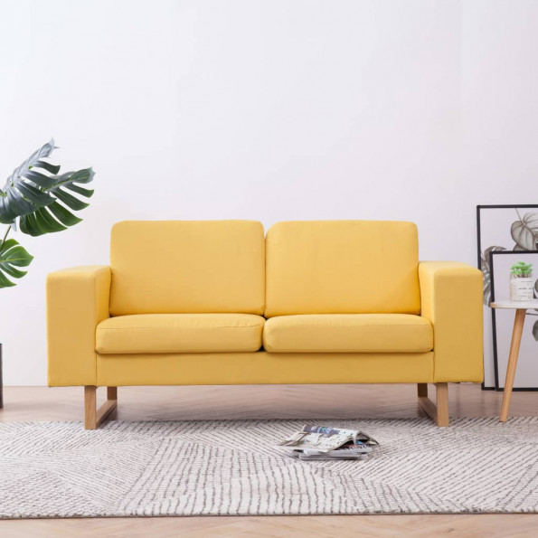 2-personers sofa i stof gul