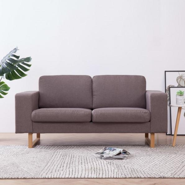 2-personers sofa i stof gråbrun