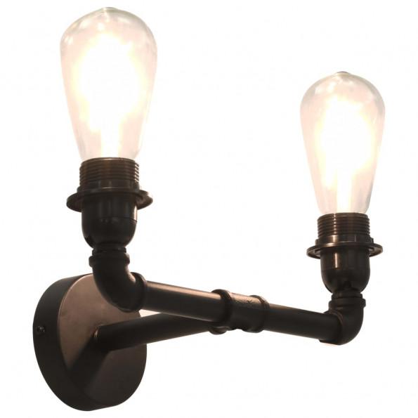 2-vejs væglampe 2 x E27-pærer sort