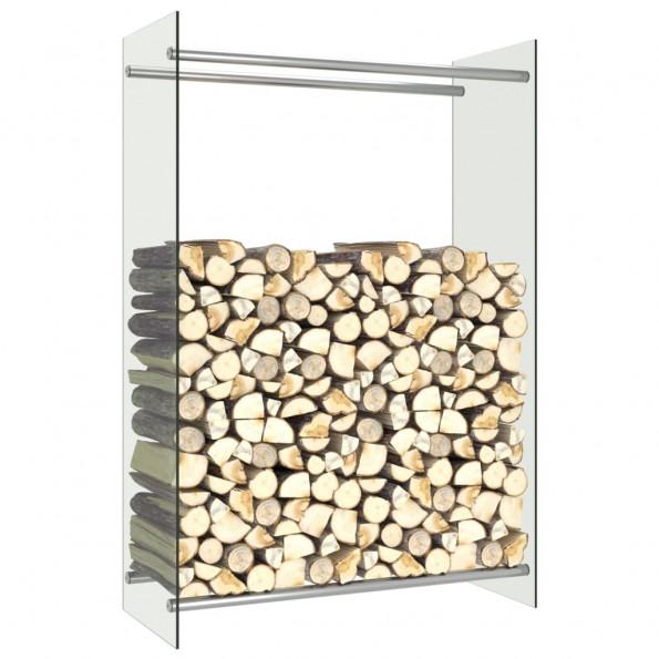 Brændestativ 80x35x120 cm glas transparent