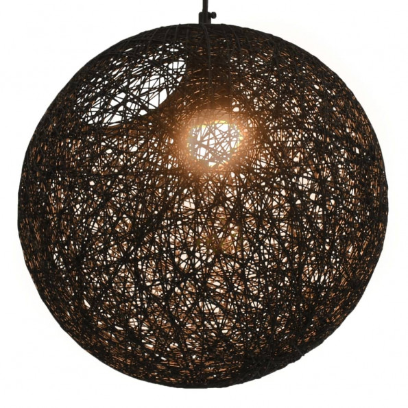 Hængelampe kugleformet 35 cm E27 sort