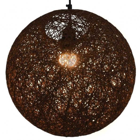 Hængelampe kugleformet 35 cm E27 brun