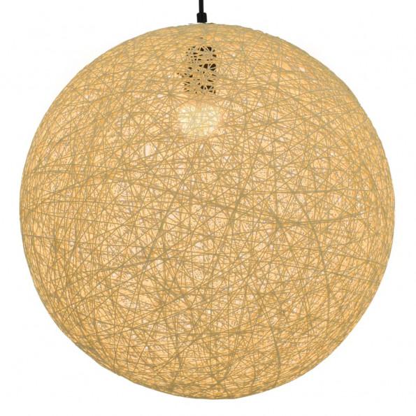 Hængelampe kugleformet 45 cm E27 cremefarvet
